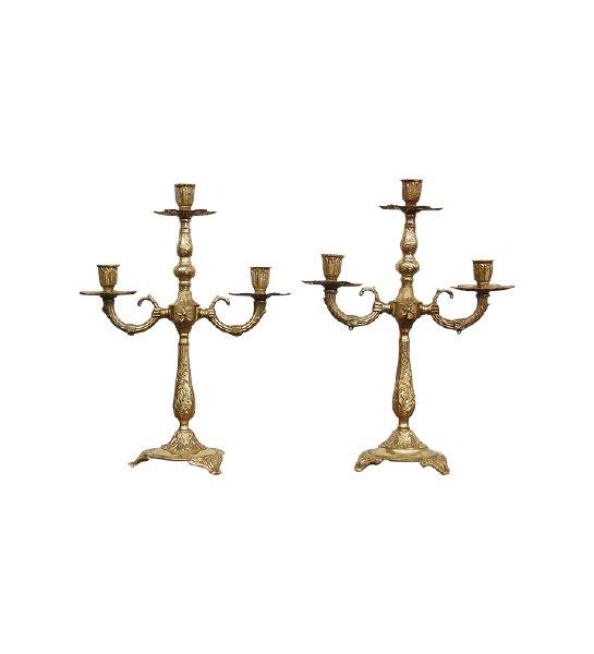 The Leoras: Brass Candelabras