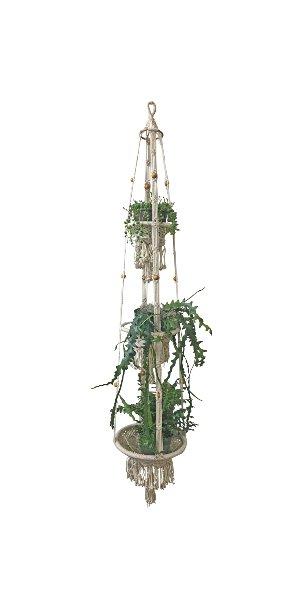 The Astrid: Vintage Macramé Plant Hanger