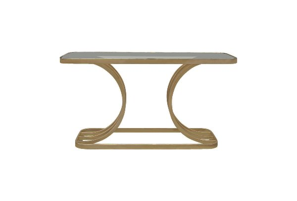 The Bowie: Brass Sofa Table
