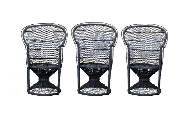 The Jaggers: Black Rattan Wicker Chairs