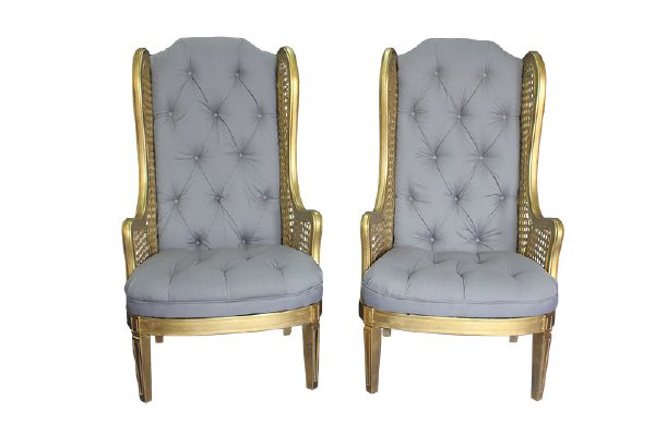 The Dorians: Gray Wingback Chairs