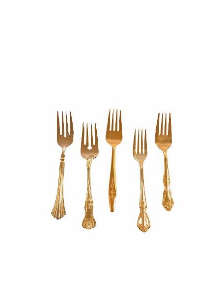 Jolee Vintage Gold-Plated Salad/Dessert Fork