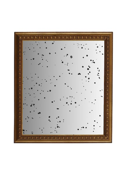 The Austin: Large Distressed Gold Mirror