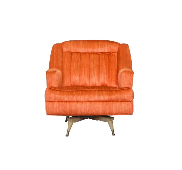 The Lucy: Midcentury Orange Chair