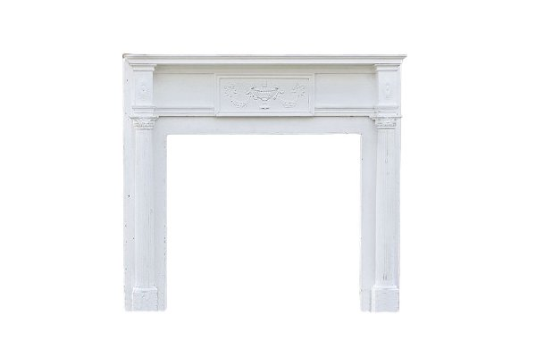 The Park Place: Antique Wood Mantel