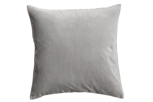 Light Grey Velvet Pillows