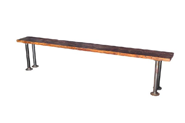 The Henry: Industrial Wood Bench