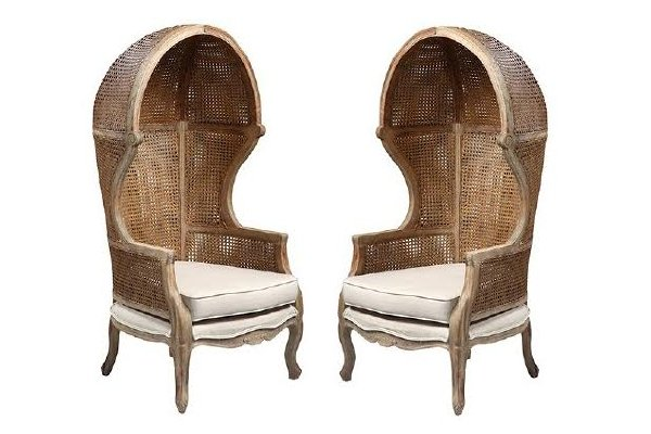 New! The Toulouse: Pair of Hooded Chairs