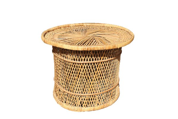 The Celeste: Wicker Side Table