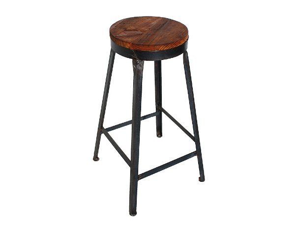 The Marshall: Industrial Bar Stool