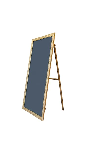 The Lydia: Oversized Self-Standing Gold Chalkboard