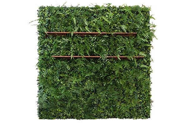 The Eros: 8ft Fern Wall with Shelf Set