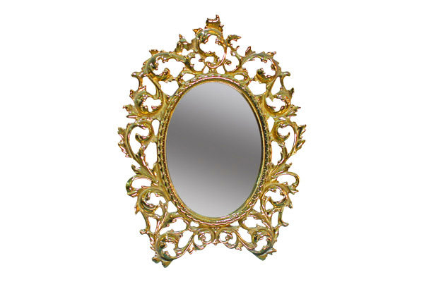 The Hannah: Small Gold Mirror