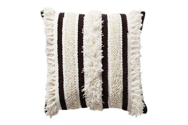 The Milo: Black and White Textured Pillows