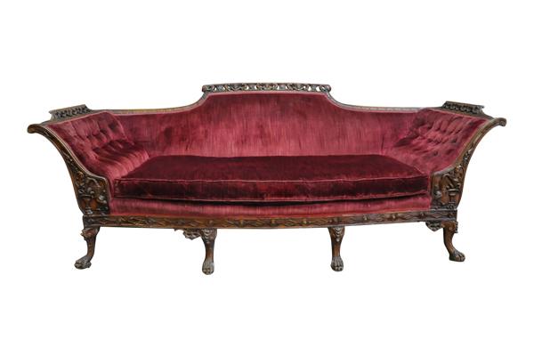 The Addington: Merlot Vintage Sofa
