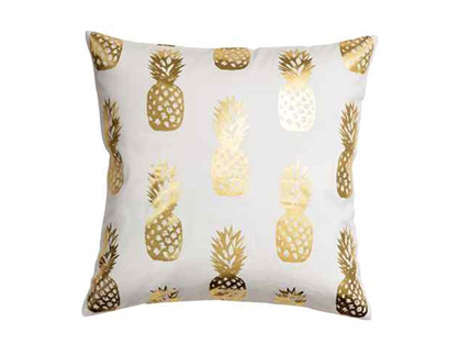 The Moana: White Pineapple Pillows