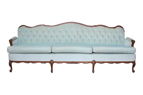 The Natalie: Mint Tufted Sofa