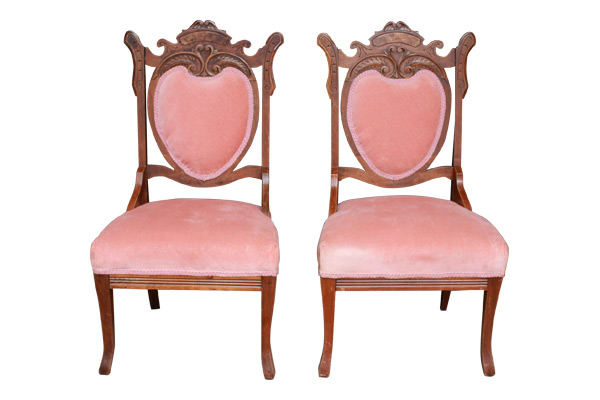 The Emilie: Rose Parlor Chairs
