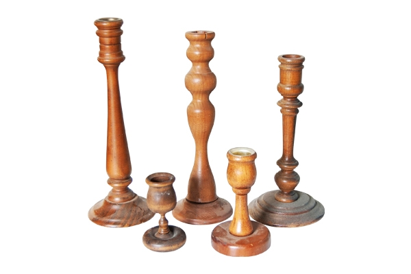 The Timber: Wood Candlestick Holders