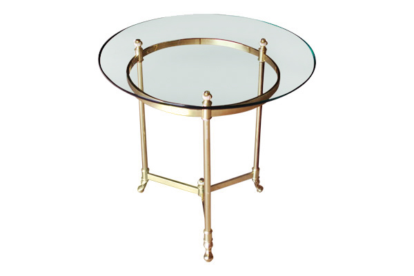 The Piper: Brass Side Table