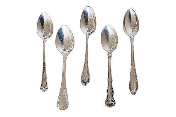 Delilah Vintage Silver-Plated Demitasse Spoons