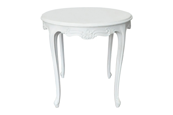 The Abby: White Side Table