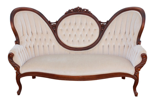 The Fawn: Pale-Taupe Settee