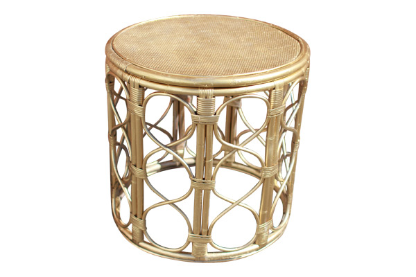 The Vivian: Gold Bamboo Table
