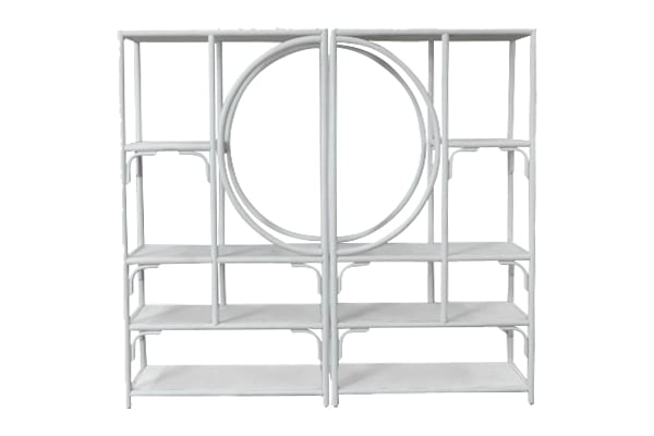 The Scout: White Bamboo Shelf Set