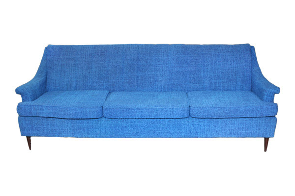 Barbara: Royal Blue Midcentury Sofa