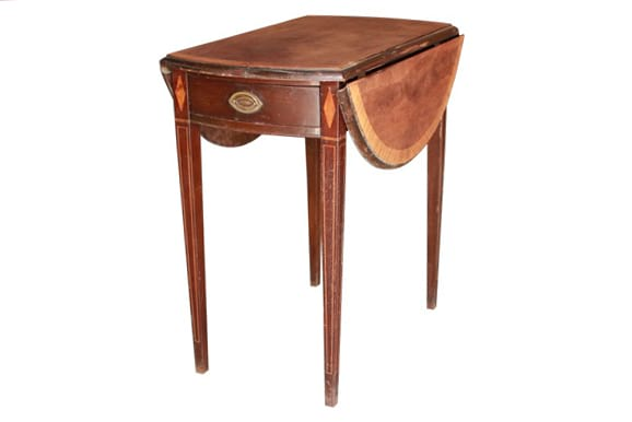 The Willem: Drop Leaf Oak Square Table