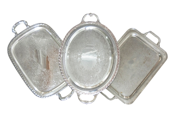 The Patton: Rectangular Silver Trays
