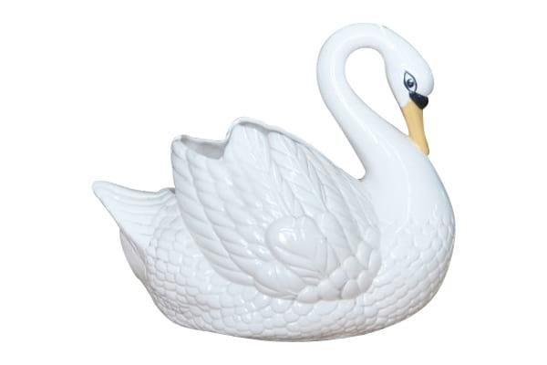 The Odette: Porcelain Swan Planter