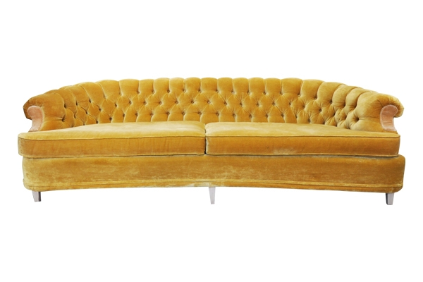 The Rumi: Marigold Tufted Sofa
