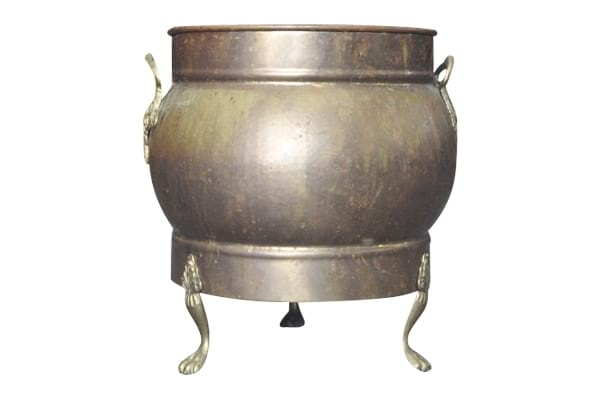 The Brutus: Large Claw-Foot Brass Pot
