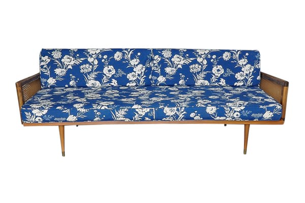 The Poppy: Floral Midcentury Sofa