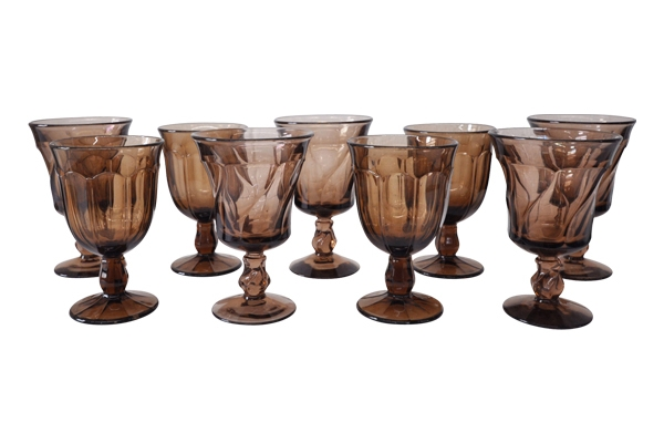 Smokey Glass Goblets