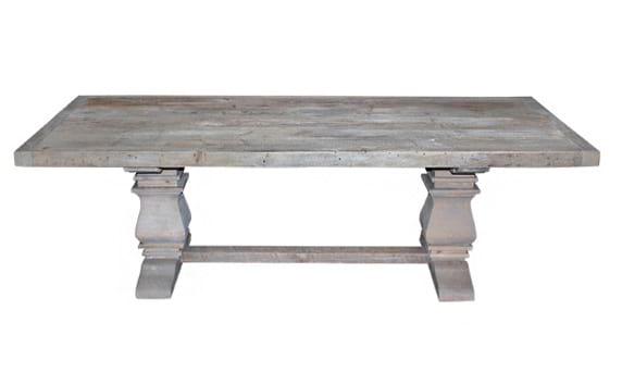 The Eckington: Gray Washed Pedestal Tables