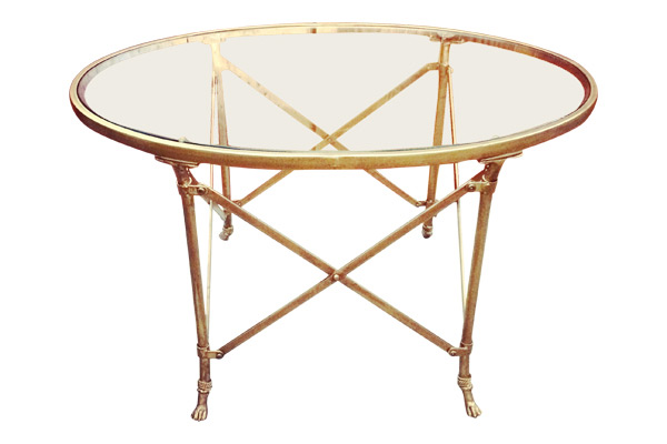 Mallory Brass Coffee Table