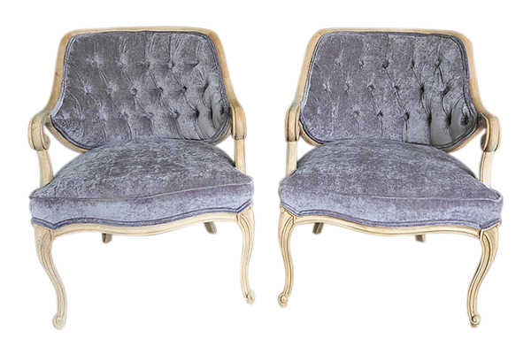 The Millie: Lavender Tufted Chairs