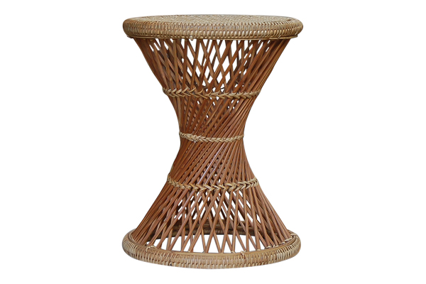 The Opal: Rattan Side Table
