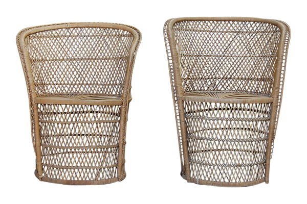 The Autumns: Rattan Wicker Chairs