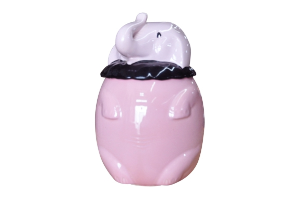 The Delirium: Porcelain Elephant Cookie Jar