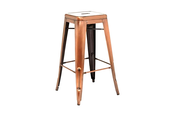 The Wilkes: Copper Bar Stools