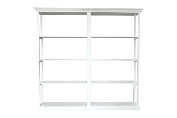 The Genevieve: Two White Shelf Set