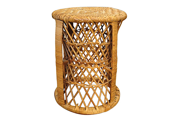 The Fawn: Wicker Rattan Side Table