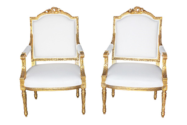 The Marseille: Louis Ivory Chairs