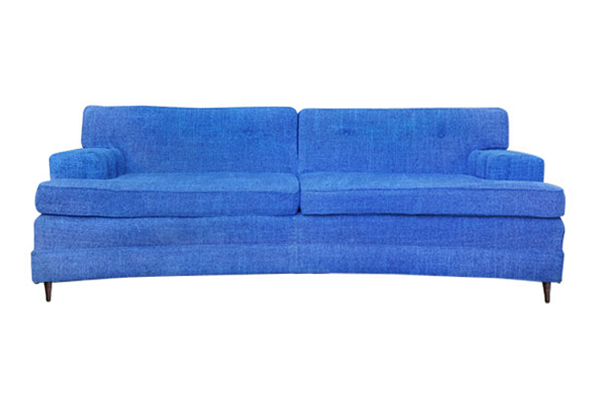 The Brenda Lee: Royal Blue Midcentury Sofa