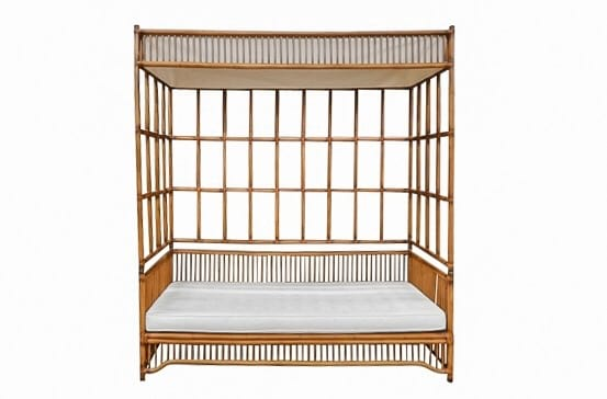The Indah: Rattan Canopy Day Bed