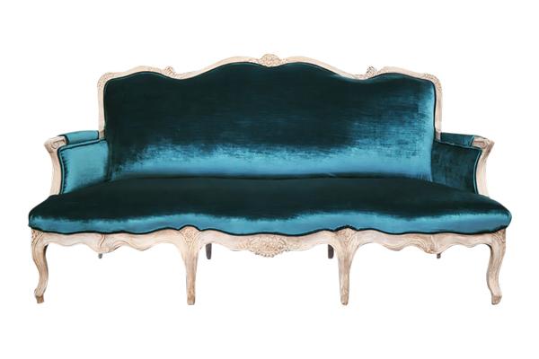 The Hatfield: Peacock Green Velvet Sofa